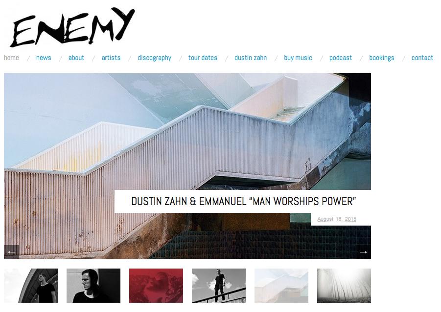 Enemy Records Website
