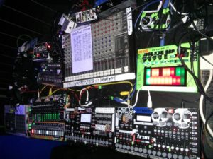 One of Paul's live set rigs. London 2014.